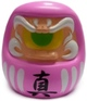 Fortune Daruma - Pink/Flesh w/ Green Eye