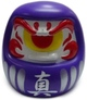 Fortune Daruma - Purple/White w/ Red Eye