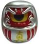 Fortune Daruma - Silver/Red w/ Yellow Eye