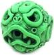 Ooze-Ball Neon Green w/Custom Black Rub