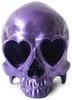 Heart Skull - Metallic Purple