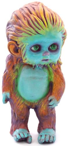 Little_bigfoot_-_orange_with_blue_face-ron_english-little_bigfoot-trampt-121732m