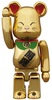 Gold Beckoning Maneki Neko Be@rbrick - 100%
