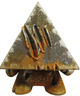Rusted Metal pyramid