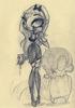 Terror Girls: Terror in Black Sketch
