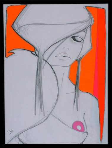 Orange-ajee-graphite_marker_and_cut_out_paper-trampt-127332m