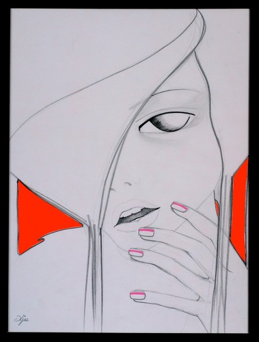 Red-ajee-graphite_marker_and_cut_out_paper-trampt-127333m