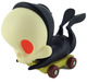 Black skelve on cart