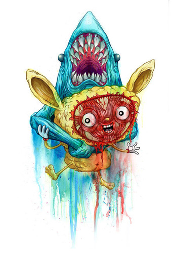 Hang_in_there_-_print_and_linework-alex_pardee-gicle_digital_print-trampt-137144m