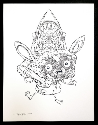 Hang_in_there_-_print_and_linework-alex_pardee-gicle_digital_print-trampt-137145m