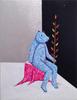 Seated Bear (Blue)