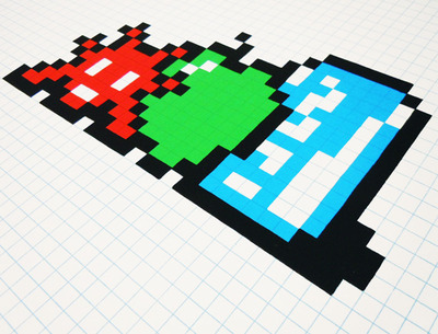 Still_life_with_pocari_can-space_invader-screenprint-trampt-138312m