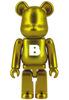 Basic Be@rbrick - Brass Gold (B)