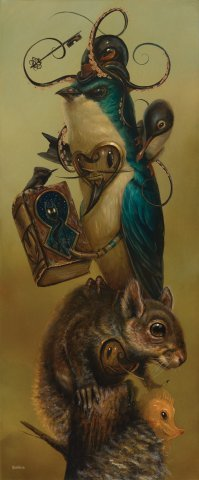 The_librarian-craola_greg_simkins-acrylic-trampt-140830m