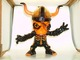 Skull Zombi - Black body with reddish/orange highlights