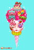 Strawberry Flossface – On a Cone