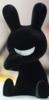 BLACK RABBIT SITTING - Flocked Ver. - black