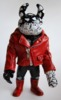 2013 REAL X UAMOU CHAOS WARRIORS - red leather jacket