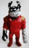 2013 REAL X UAMOU CHAOS WARRIORS - red leather jacket w/red pants