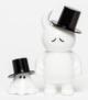 Mr. Uamou w/ Mr. Boo - white sad