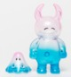 Uamou w/ Boo - clear pink blue happy