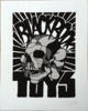 David Flores x Blackbook Toy – BBT Skull Giclee Print