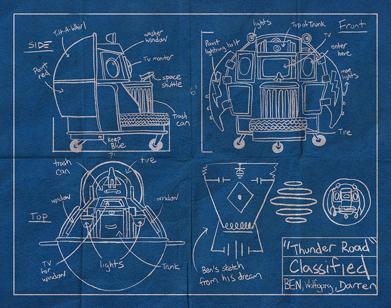 Thunder road blueprint gicle digital print by trampt library view image larger malvernweather Images