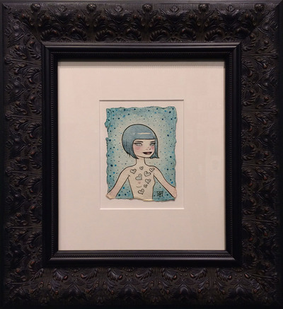 Girl_with_notes-tara_mcpherson-acrylic_on_handmade_indian_watercolor_paper-trampt-159954m