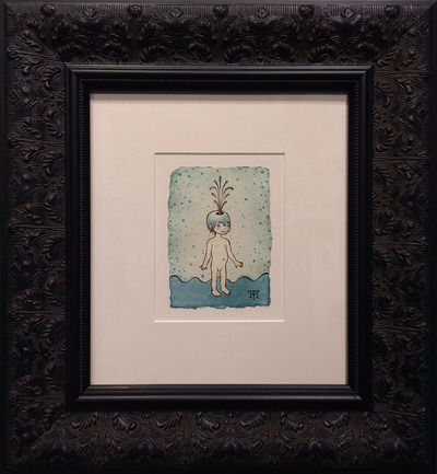 Fountain_boy-tara_mcpherson-acrylic_on_handmade_indian_watercolor_paper-trampt-159955m