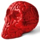 MINI SKULL BRAINS - Red (Outland Designertoys Store exclusive Edition)
