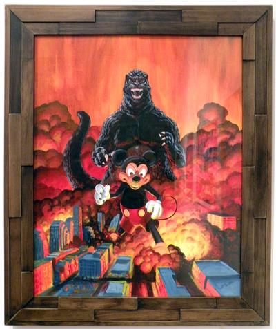 Austin_is_burning_godzilla_vs_mickey_mouse-manlyart_jason_chalker-gicle_digital_print-trampt-168634m