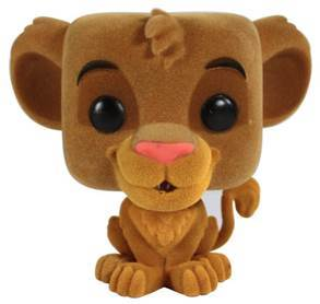 Funko Pop Hot Topic Exclusive Disney Lion King Flocked Simba