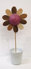 Red-Purple Flower Sculpture