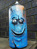 CUSTOM SPRAY CAN HAND PAINTED GRAFFITI FACE SCULPTURE