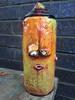 CUSTOM SPRAY CAN HAND PAINTED GRAFFITI FACE SCULPTURE