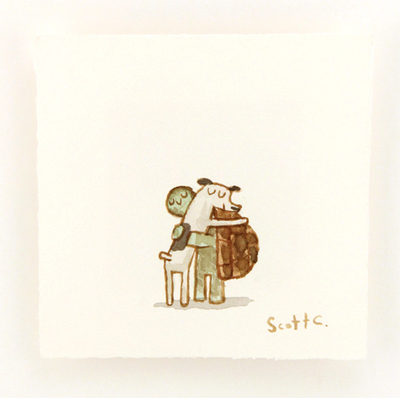 Hug_machine_-_turtle_dog_hug-scott_campbell_scott_c-watercolor-trampt-179308m