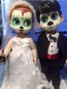 Day of The Dead Doll - wedding couple