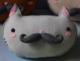 Moustache Neko-Cats - Light Grey