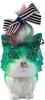 Many Eyes Cat - Pierced Green
