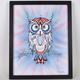 OBLIGATORY OWL HAND EMBELLISHED