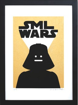 Sml_wars_gold_-_darth_vader-sticky_monster_lab-screenprint-trampt-196254m