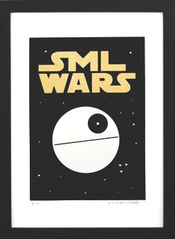 Sml_wars_gold_-_death_star-sticky_monster_lab-screenprint-trampt-196255m
