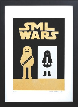 Sml_wars_gold_-_chewbacca-sticky_monster_lab-screenprint-trampt-196257m