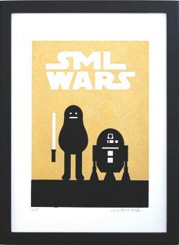 Sml_wars_gold_-_r2-d2-sticky_monster_lab-screenprint-trampt-196262m