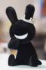 BLACK RABBIT SITTING - Flocked Ver. - black w/ crown