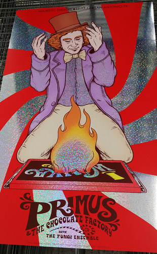 Primus__the_chocolate_factory_san_antonio_2014_sparkle_foil_variant-jermaine_rogers-screenprint-trampt-199375m