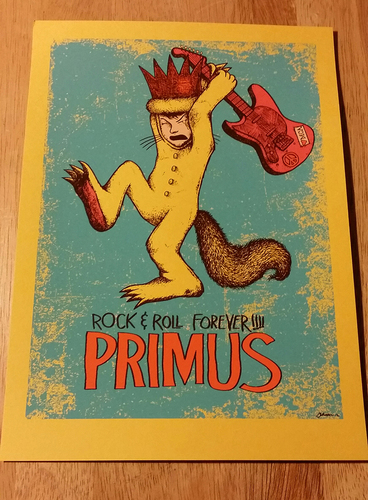 Primus_rock-n-roll_forever_mini-print_yellow_variant-jermaine_rogers-screenprint-trampt-199378m