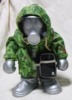 Gas Mask - silver w/ green camo