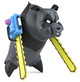 Chainsaw Panda - CMYK