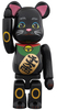 Be@rbrick - Beckoning Cat (Black) 100%